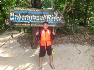 Erik the Hungry Traveller at the Underground river